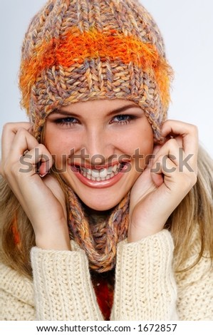 happy winter  woman