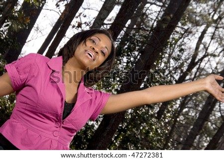 Happy Woman - stock photo