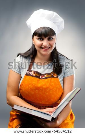 happy woman cook - stock photo