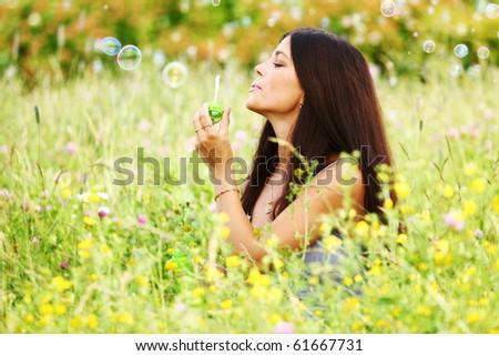 happy woman smile - stock photo