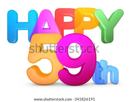 Happy xx Title in big letters - stock photo