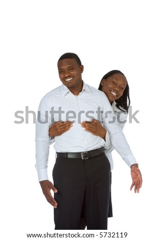 Happy young African-American couple