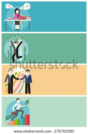 Happy young business man enjoying dollar rain. Financial adviser or business mentor help team partner up to profit growth. Improving skills. Man with case rises to top step of stairs. Raster version  - stock photo