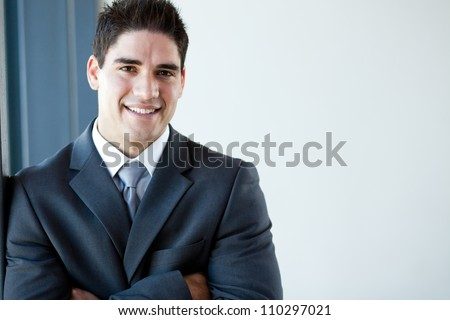 happy young businessman portrait - stock photo