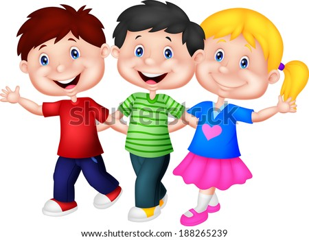 Happy young children  - stock photo