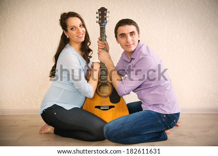 Happy young couple anticipating childs birth - stock photo