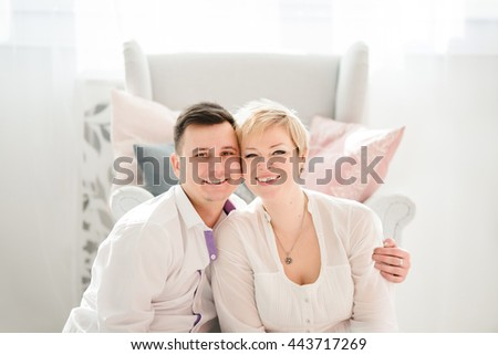 happy young  couple love each other - stock photo