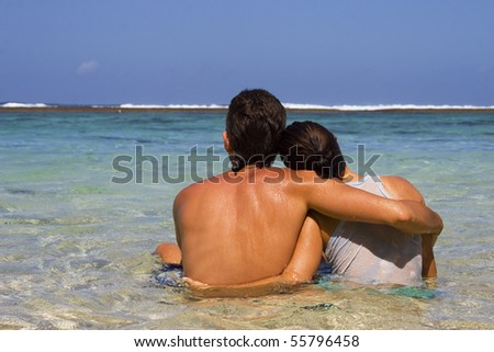 Happy Young Couple On Vacation - stock photo
