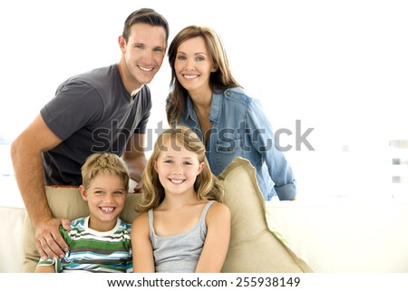 Happy young family - stock photo