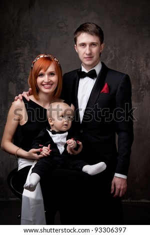 Happy young family.