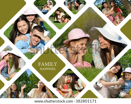 Happy young family. Enjoying life together - stock photo