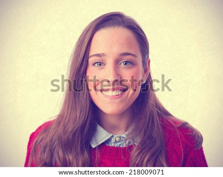 happy young girl - stock photo