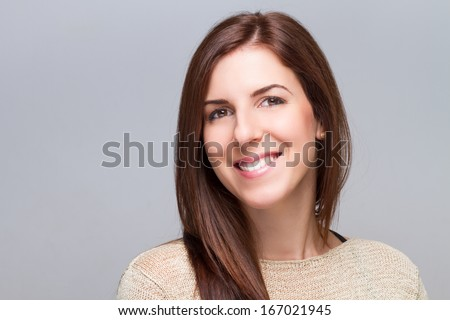 happy young girl portrait