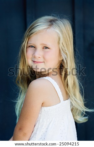 Happy young girl smiling - stock photo