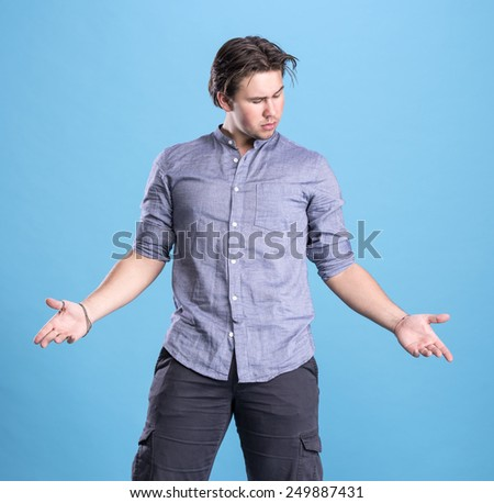 Happy young handsome man - stock photo