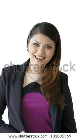 Happy Young Malay Woman Smiling - stock photo