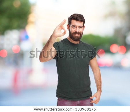 happy young man allright - stock photo