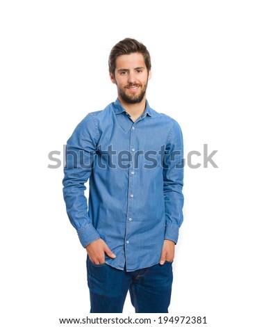 happy young man posing - stock photo