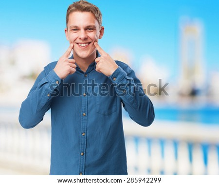 happy young-man smiling - stock photo