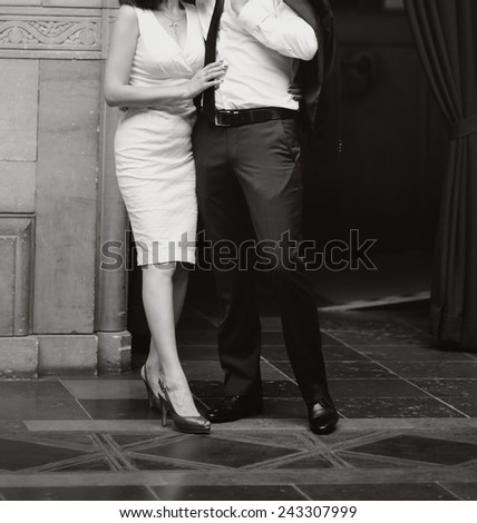 Happy young newlyweds together.  - stock photo