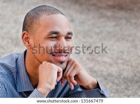Happy Young Professional Black Man - stock photo