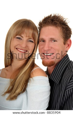 Happy, young, smiling couple in love - stock photo
