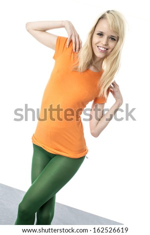 Happy Young Woman Modeling
