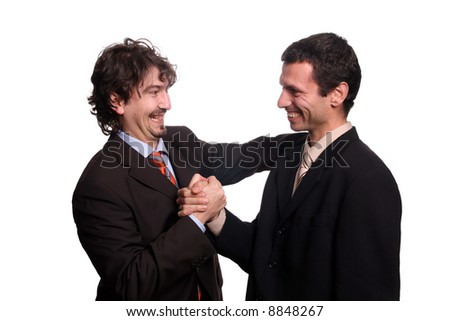 hapy businessteam shake hand