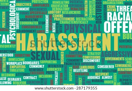 Harassment in its Many Forms and Types - stock photo