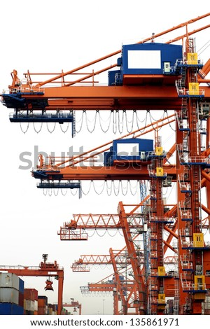 Harbor and  Commercial Dock - stock photo