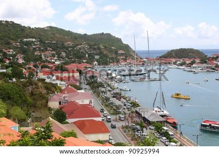 Harbor at St. Barts - stock photo