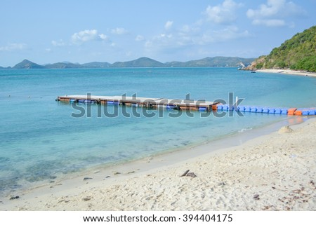 Harbor Beach on the sea - stock photo