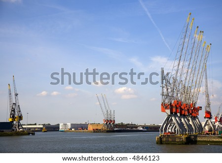Harbor cranes 3 - stock photo