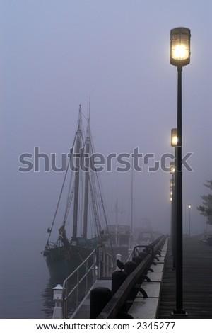 Harbor Fog - stock photo