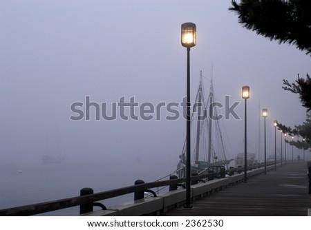 Harbor Fog II - stock photo