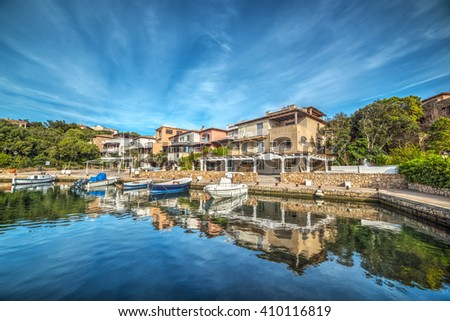 harbor in Porto Rotondo in Costa Smeralda, Sardinia - stock photo