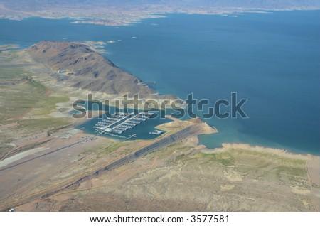 Harbor near Las Vegas - stock photo