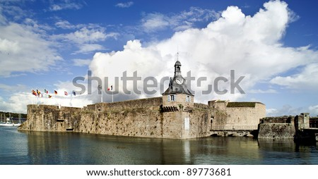 harbor of concarneau in brittany france