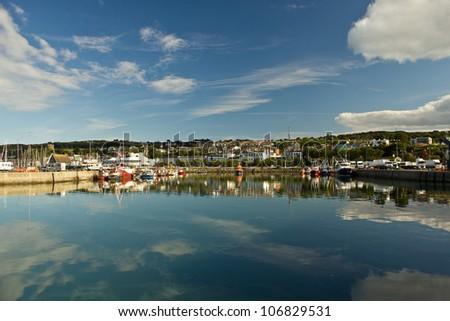 Harbor of Dublin Howth, Ireland - stock photo