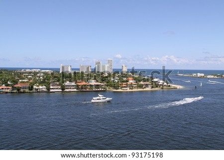 harbor of Fort Lauderdale - stock photo