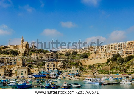 Harbor of Mgarr in Gozo