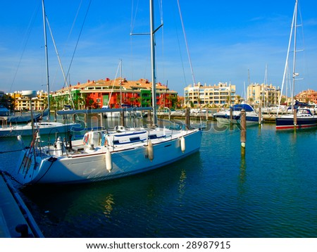 Harbor of Sotogrande, Andalusia, Spain - stock photo