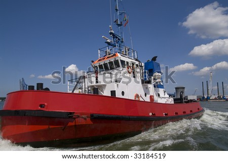 Harbor Tugboat - stock photo