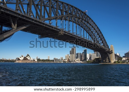 harbour and downtown, Australia - stock photo