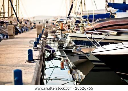 Harbour in Rovinj, Croatia - stock photo
