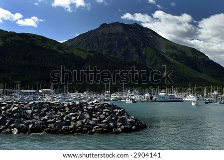 Harbour in Seward, Kenai, Alaska. - stock photo
