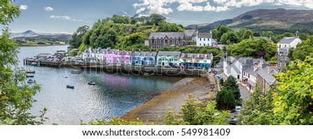 Harbour of Portree (Isle of Skye, Scotland) - HDR panorama
