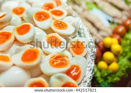 Hard-Boiled Egg, Boiled Egg, No People, Egg, Animal Egg - stock photo