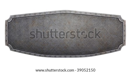 Hard brushed metallic banner (3d render)