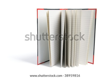 Hard Cover Note Book on White Background